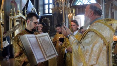 Photo of Архиерейское богослужение в канун дня памяти святого мученика Иоанна Воина