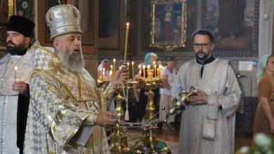 Photo of Архиерейское богослужение в канун дня памяти Толгской иконы Божией Матери