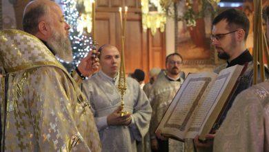 Photo of Архиерейское богослужение в канун дня памяти иконы Божией Матери «Млекопитательница»