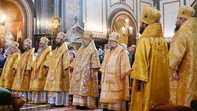 Photo of Архиепископ Иоанн принял участие в Патриаршем богослужении в Храме Христа Спасителя